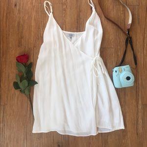 White Wrap Mini Dress